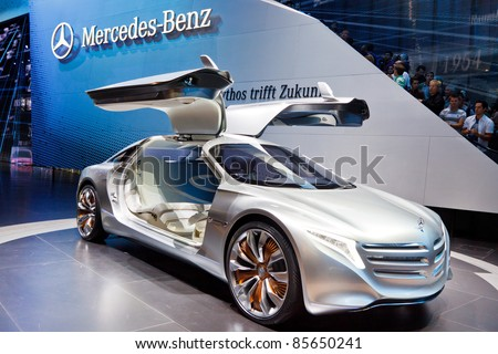 FRANKFURT - SEP 24: Mercedes-Benz F125 Concept Car shown at the 64th IAA Motor Show (Internationale Automobil-Ausstellung) in Frankfurt, Germany, on September 24, 2011.