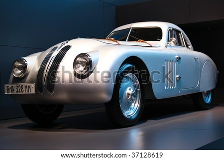 FRANKFURT - SEP 15: Silver BMW 328 Mille Miglia in side view on 63rd IAA (Internationale Automobil Ausstellung) on September 15, 2009 in Frankfurt, Germany.