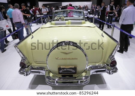 FRANKFURT - SEPT 24: Rear view of the old Chevrolet Belair on display at the 64th IAA (Internationale Automobil Ausstellung) on September 24, 2011 in Frankfurt, Germany