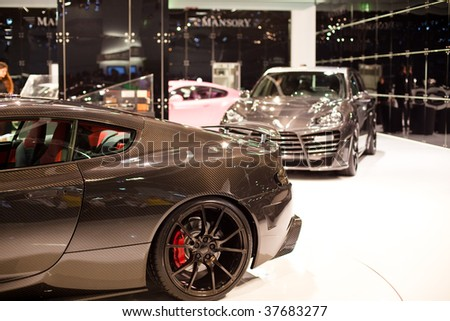 FRANKFURT - SEPTEMBER 15: Aston Martin details on 63rd IAA (Internationale Automobil Ausstellung) on September 15, 2009 in Frankfurt, Germany.