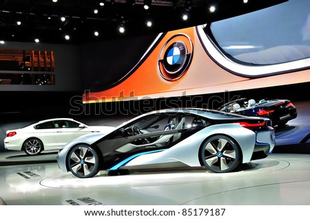 frankfurt september 18 bmw stand cars shown at the 64th internationale automobil ausstellung. Black Bedroom Furniture Sets. Home Design Ideas