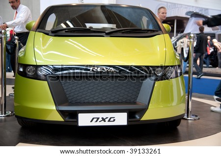 FRANKFURT - SEPTEMBER 20 : Reva NXG Hybrid car on display at 63rd IAA (Internationale Automobil Ausstellung) on September 20, 2009 in Frankfurt.