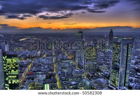Frankfurt Sunset HDR