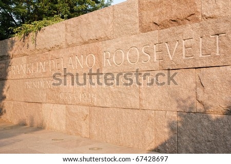 Franklin Delano Roosevelt Presidential Memorial inscription