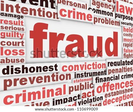 Fraud message conceptual design. Criminal offence poster concept