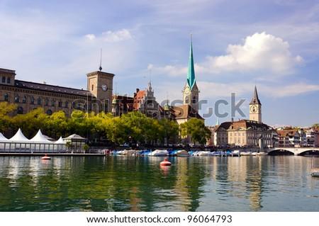 Fraumunster abbey, Zurich, Switzerland