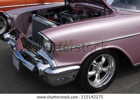 Frederick Md September 16 1957 Pink Chevrolet Bel Air On September 16 2012 In Frederick Md