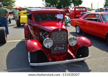 Frederick Md September 16 1939 Red Ford Classic Car On September 16 2012 In Frederick Md