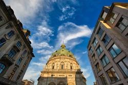 Frederiks Church in the historic center of Copenhagen, Denmark