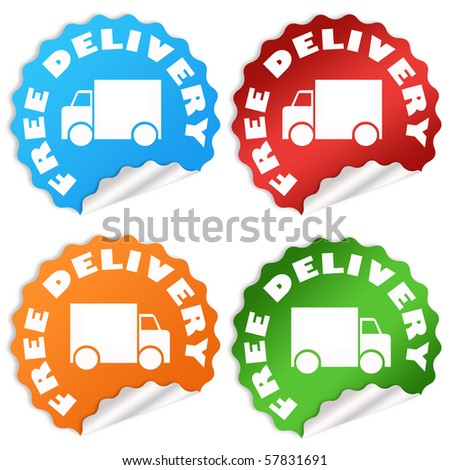 Free delivery - stock photo