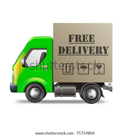 free delivery truck online order shipping from online internet store package sending delivering parcel package delivery free shipping
