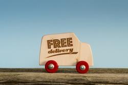 Free delivery van, handmade wooden toy truck