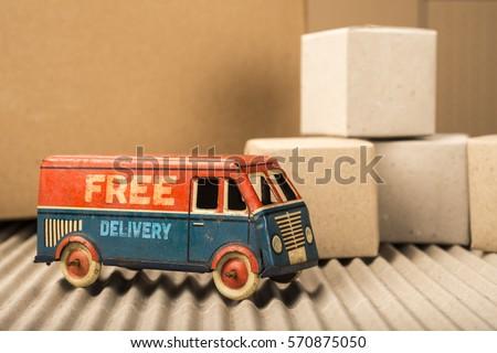 free delivery van  vintage toy...