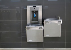 Free drinking water for traveler in the international airport.