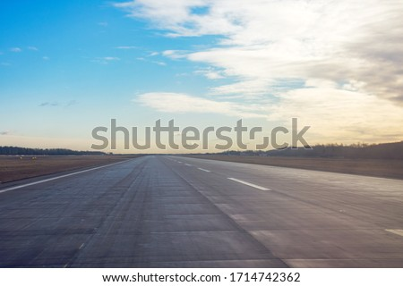 Free for take off and landing runway at the airport Сток-фото ©