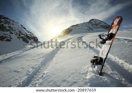Free powder mountain view - stock photo
