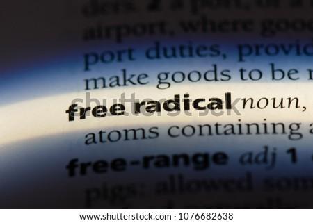 free radical free radical concept. #1076682638