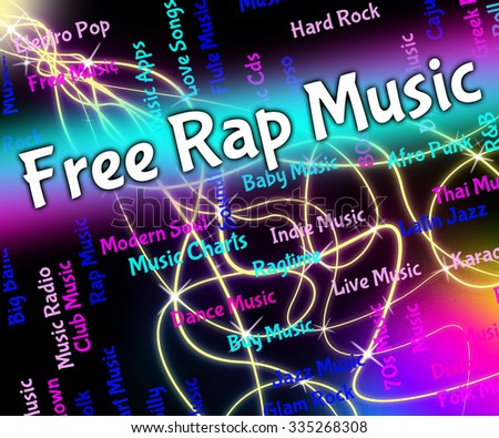 Free Rap Music Representing Spitting Bars And Emceeing Stock photo ©