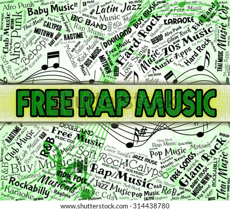 Free Rap Music Showing No Charge And Harmony Stock photo ©