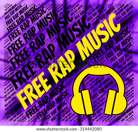 Free Rap Music Showing Sound Tracks And Harmonies Stock photo ©