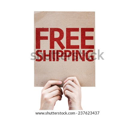 Free Shipping card isolated on white background