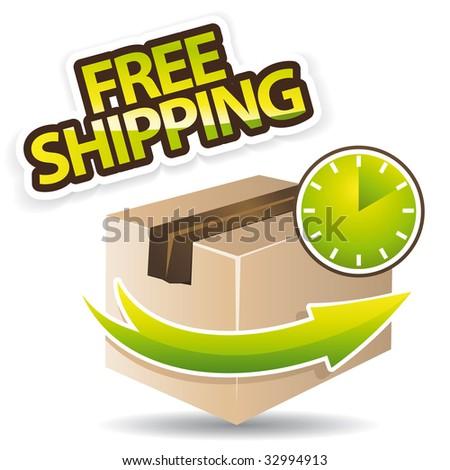 Free shipping icon illustration