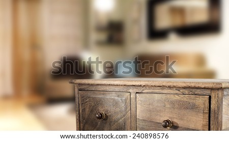 free space on table of furniture and home