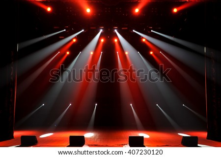 Free stage with lights