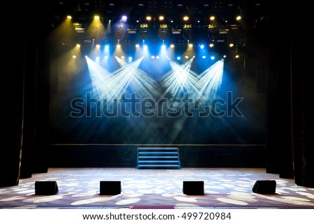 Free stage with lights #499720984