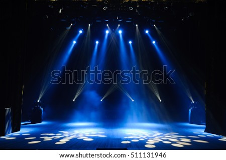Free stage with lights - Shutterstock ID 511131946