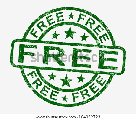Free Stamp Showing Freebie and Promos