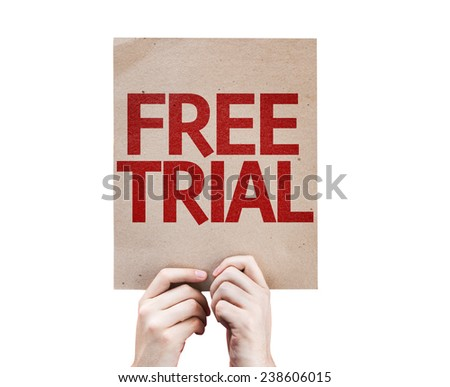 Free Trial card isolated on white background