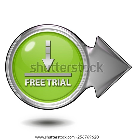 Free trial circular icon on white background