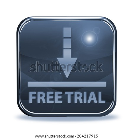 Free trial square icon on white background