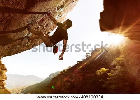 Freeclimber at Sunset