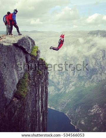 freedom  flight. base jumping...
