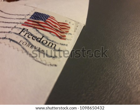 Freedom Postage Stamp #1098650432