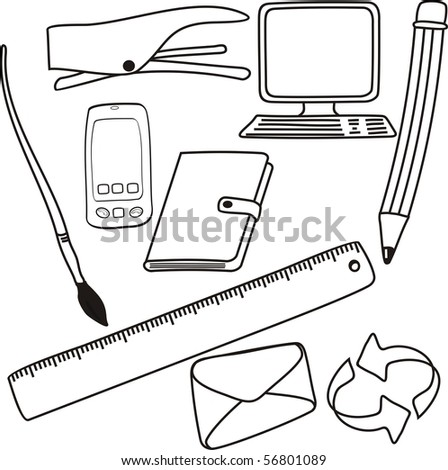 freehand drawings. isolated on white background