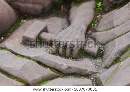 Freemasonry Masonry stones letters symbols education Strasbourg Stock photo ©