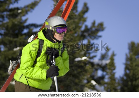 Freeride skier looking for a ride