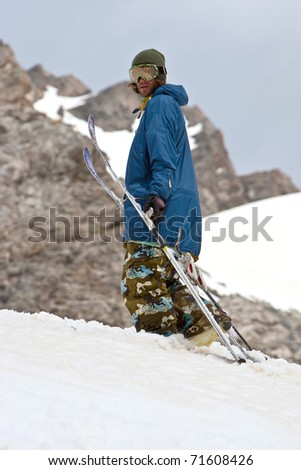 Freerider in Caucasus Mountains, Elbrus
