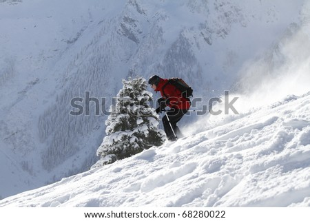 Freeriding scene shot in austria
