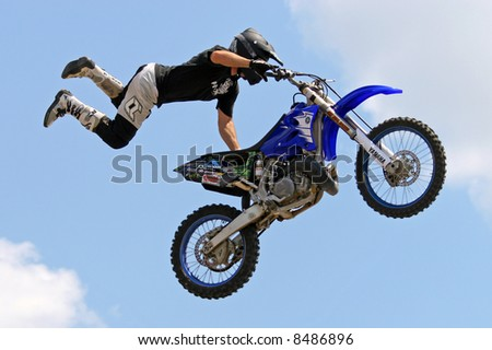 Freestyle Motocross Motorcycle Jumping.
