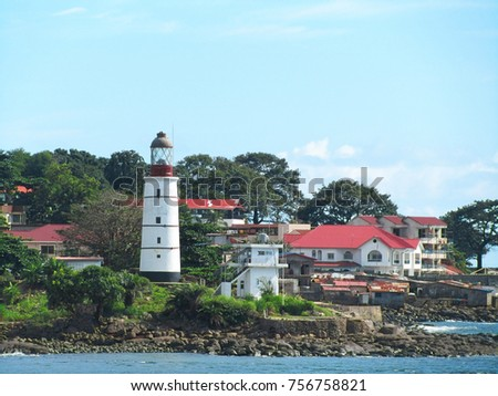 freetown the harbour of sierra leone west africa