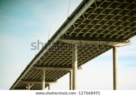 Freeway bridge - stock photo