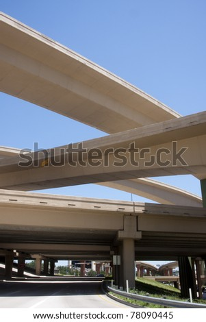 Freeway bridge interchange