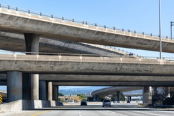 Freeway interchange in San Francisco bay area, California