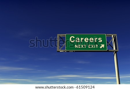 Freeway Sign - Careers! - stock photo