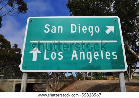 Freeway sign San Diego or Los Angeles