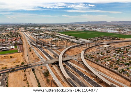 Freeways meet in the desert as construction continues to achieve deadlines #1461104879